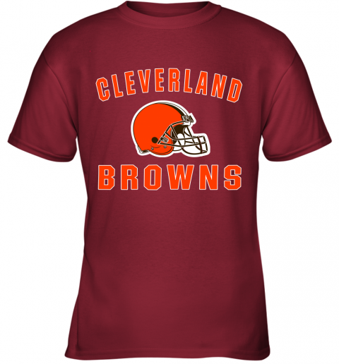 ab4y cleveland browns nfl line by fanatics branded brown victory youth t shirt 26 front cardinal