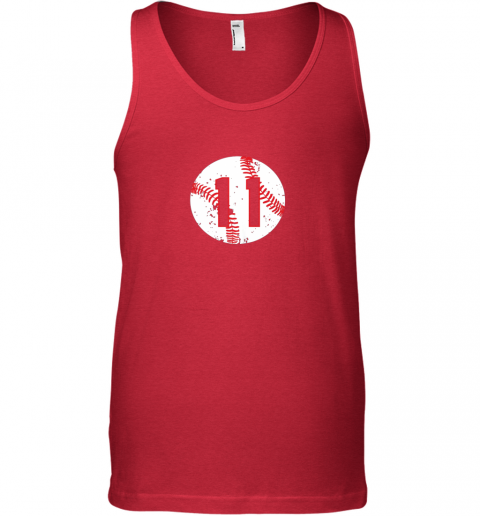 dpsn vintage baseball number 11 shirt cool softball mom gift unisex tank 17 front red