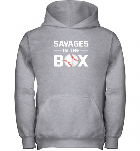 pjii savages in the box shirt baseball gift youth hoodie 43 front sport grey