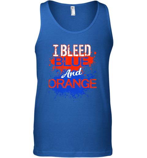x3y6 i bleed blue and orange fan shirt football soccer baseball unisex tank 17 front royal
