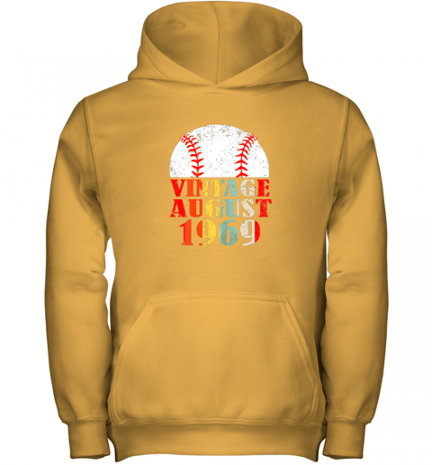 kvq0 born august 1969 baseball shirt 50th birthday gifts youth hoodie 43 front gold