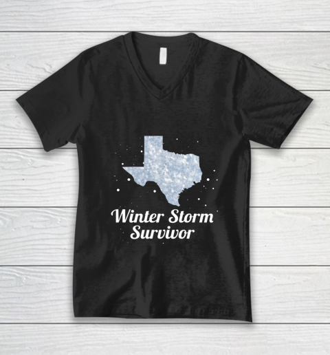 I Survived Winter Storm Texas 202 V-Neck T-Shirt