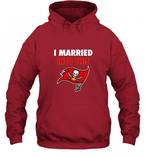 lksx i married into this tampa bay buccaneers football nfl hoodie 23 front red