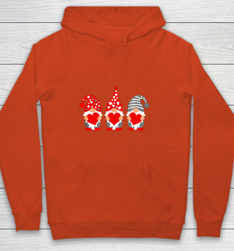 Gnomes Hearts Valentine Day Shirts For Couple Youth Hoodie 3