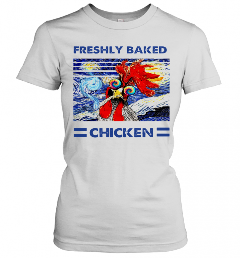 Freshly Baked Chicken Oil Painting Vintage Women's T-Shirt