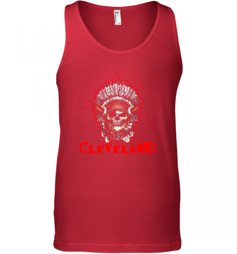 stoq cleveland hometown indian tribe vintage baseball fan awesome unisex tank 17 front red