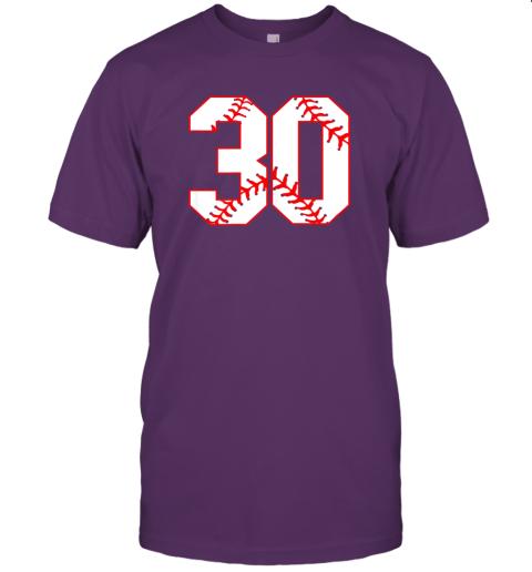 wezu thirtieth birthday party 30th baseball shirt born 1989 jersey t shirt 60 front team purple