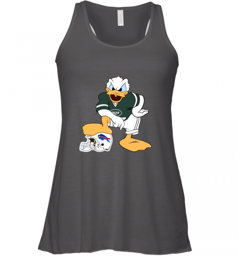 hur6 you cannot win against the donald new york jets nfl flowy tank 32 front dark grey heather