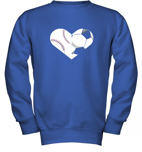 mvfz soccer baseball heart sports tee baseball soccer youth sweatshirt 47 front royal