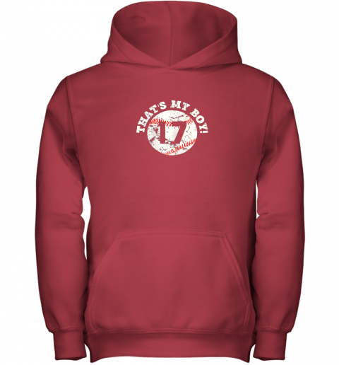 mj8r that39 s my boy 17 baseball player mom or dad gift youth hoodie 43 front red