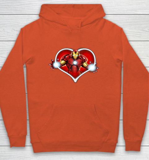 Marvel Iron Man Heart Blaster Glow Valentine Graphic Hoodie 3