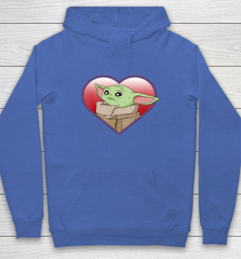 Star Wars The Mandalorian The Child Valentine Heart Portrait Hoodie 6