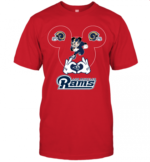 2nxj i love the rams mickey mouse los angeles rams jersey t shirt 60 front red