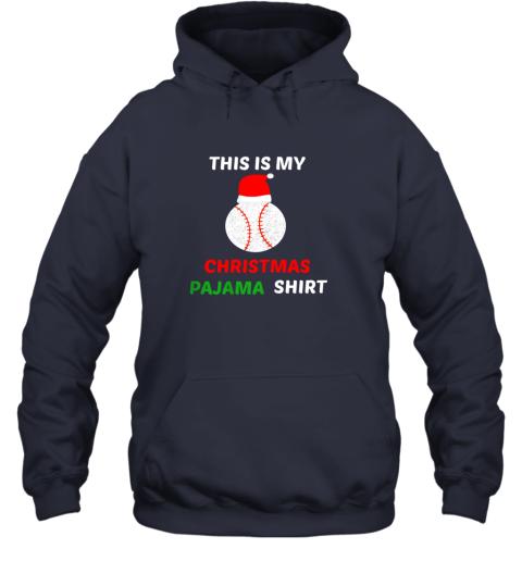 uzhf this is my christmas pajama shirtgift for baseball lover hoodie 23 front navy
