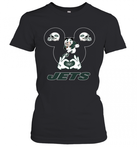 I Love The Jets Mickey Mouse New York Jets Women's T-Shirt