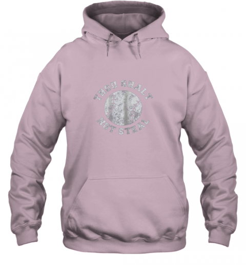 jj7r thou shalt not stealfunny baseball saying hoodie 23 front light pink