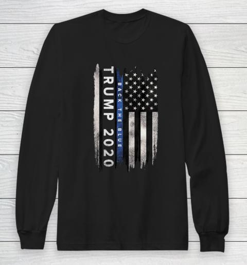 Trump back the blue shirt Pro Trump Thin Blue Line US Flag T-Shirt