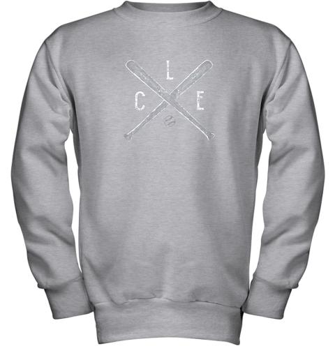 utge vintage cleveland baseball shirt cleveland ohio youth sweatshirt 47 front sport grey