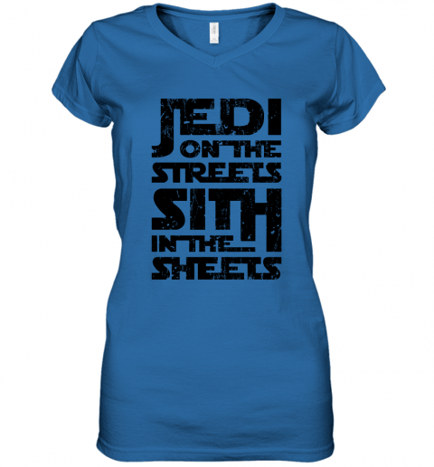gimd jedi on the streets sith in the sheets star wars shirts women v neck t shirt 39 front royal
