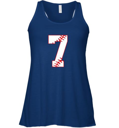 oxrp cute seventh birthday party 7th baseball shirt born 2012 flowy tank 32 front true royal