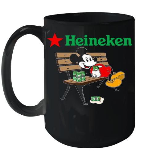 Mickey Mouse Drink Heineken Ceramic Mug 15oz