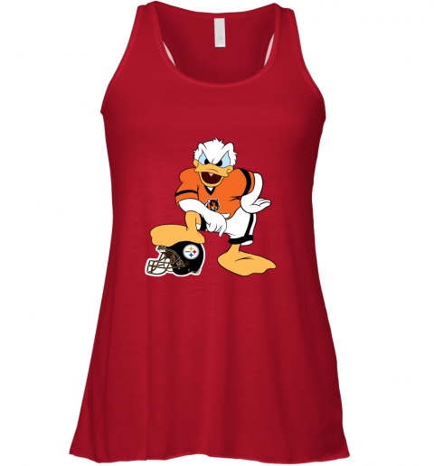 q71q you cannot win against the donald cincinnati bengals nfl flowy tank 32 front red