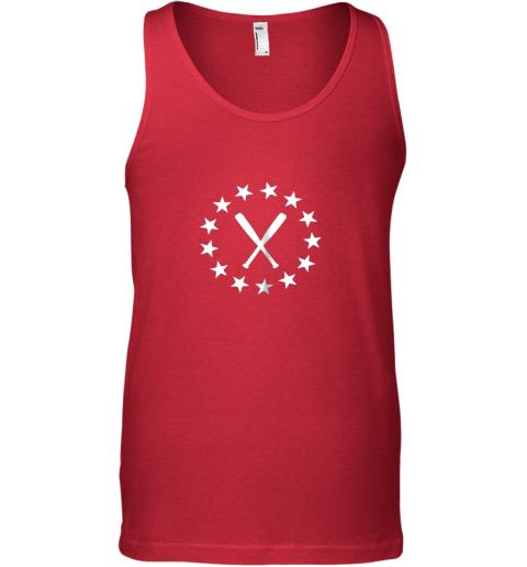 vwwq baseball with bats shirt baseballin player gear gifts unisex tank 17 front red