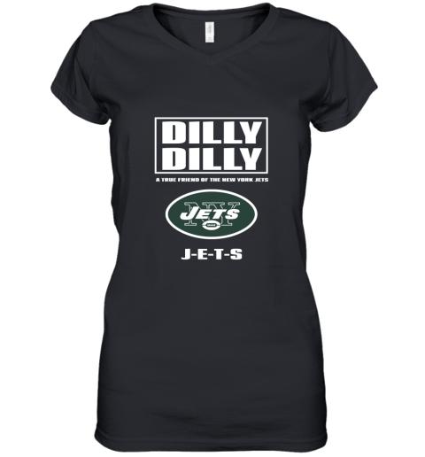 A True Friend Of The New York Jets Women's V-Neck T-Shirt