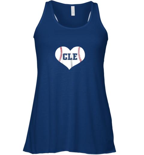 vxqp cleveland ohio baseball love heart cle gift jersey fan flowy tank 32 front true royal