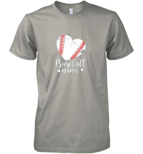 oyow funny baseball nana shirt gift for men women premium guys tee 5 front light grey