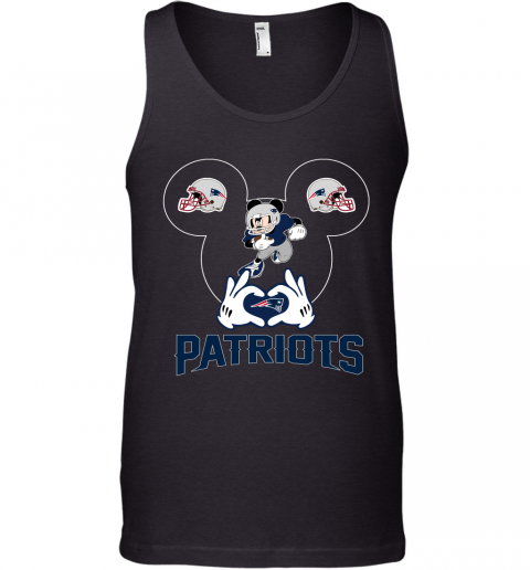 I Love The Patriots Mickey Mouse New England Patriots Tank Top