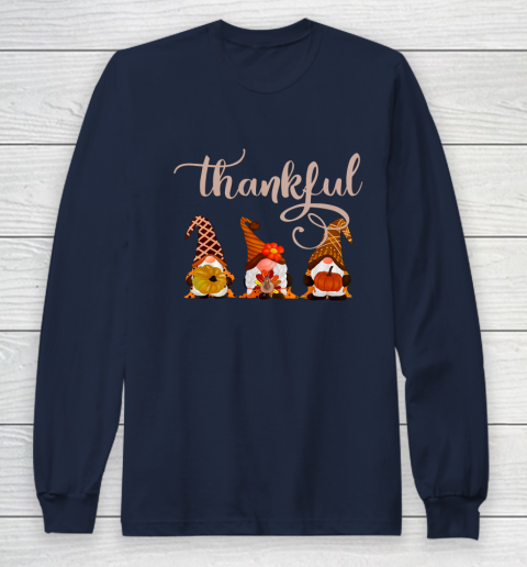 Cute Thanksgiving Thankful Gnomes Long Sleeve T-Shirt 2