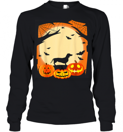 Dachshund Witch Funny Dog Halloween Gift Youth Long Sleeve