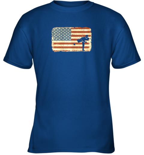 u2r3 vintage baseball pitcher shirt american flag youth t shirt 26 front royal