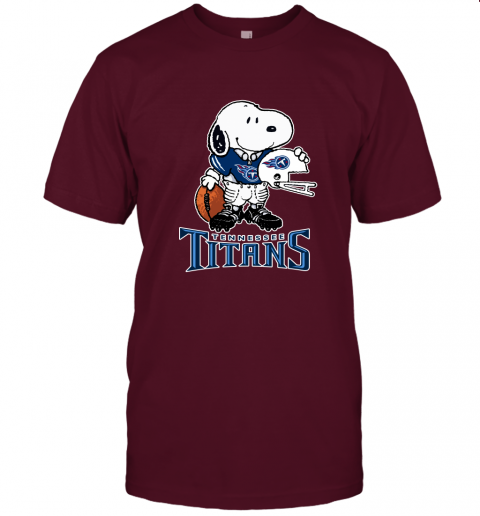 Snoopy A Strong And Proud Tennessee Titans Player NFL Unisex Jersey Tee