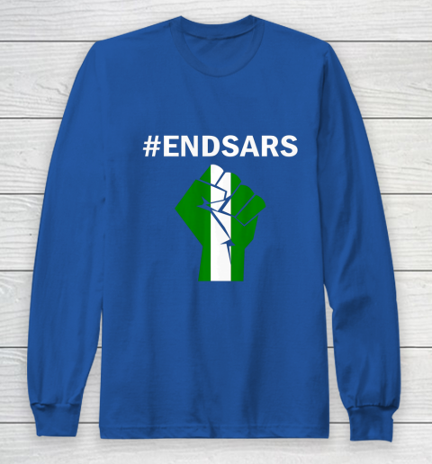 EndSARS End SARS Nigeria Flag Colors Strong Fist Protest Long Sleeve T-Shirt 6