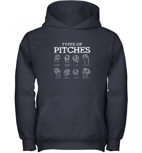 ul07 types of pitches softball baseball team sport youth hoodie 43 front navy
