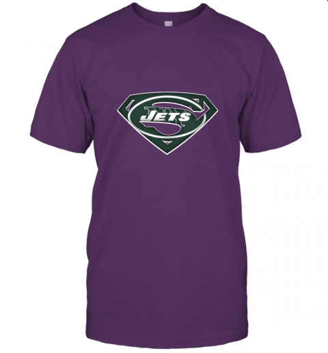 if87 we are undefeatable the new york jets x superman nfl jersey t shirt 60 front team purple