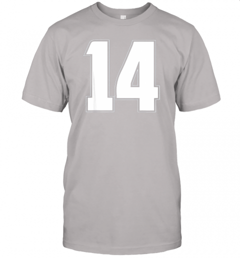 6114 halloween group costume 14 sport jersey number 14 14th bday jersey t shirt 60 front ash