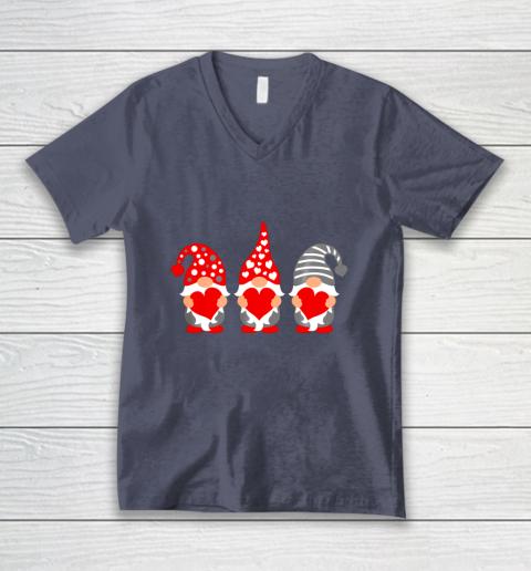 Gnomes Hearts Valentine Day Shirts For Couple V-Neck T-Shirt 7