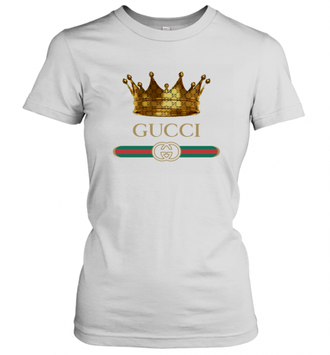 King Gold Gucci Logo Women's T-Shirt
