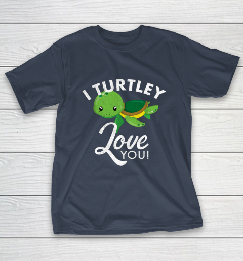 Cute Valentines Turtle I Turtley Love You Valentine Gift T-Shirt 3