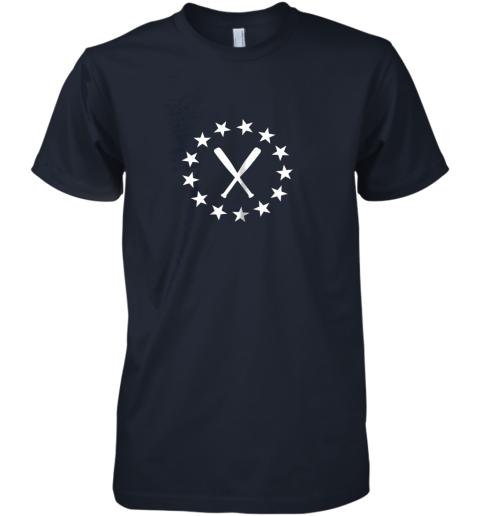 zrsr baseball with bats shirt baseballin player gear gifts premium guys tee 5 front midnight navy