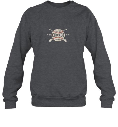 rpe7 chicago illinois il shirt vintage baseball graphic sweatshirt 35 front dark heather