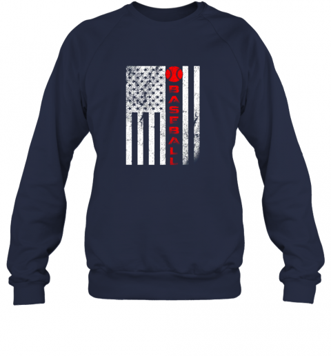 75at usa red whitevintage american flag baseball gift sweatshirt 35 front navy