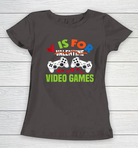 Funny Video Games Lover Valentine Day Women's T-Shirt 7