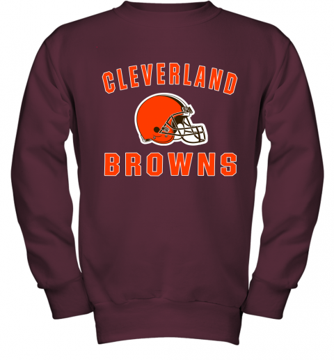 Cleveland Browns NFL Line by Fanatics Branded Brown Victory Youth Sweatshirt