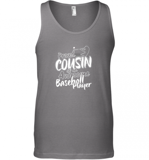 gslm cousin baseball shirt sports for men accessories unisex tank 17 front graphite heather