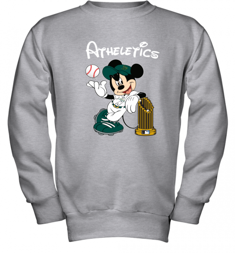 6euu oakland athletics mickey taking the trophy mlb 2019 youth sweatshirt 47 front sport grey