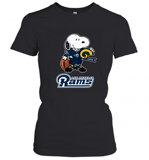 Snoopy A Strong And Proud Los Angeles Rams NFL Women's T-Shirt